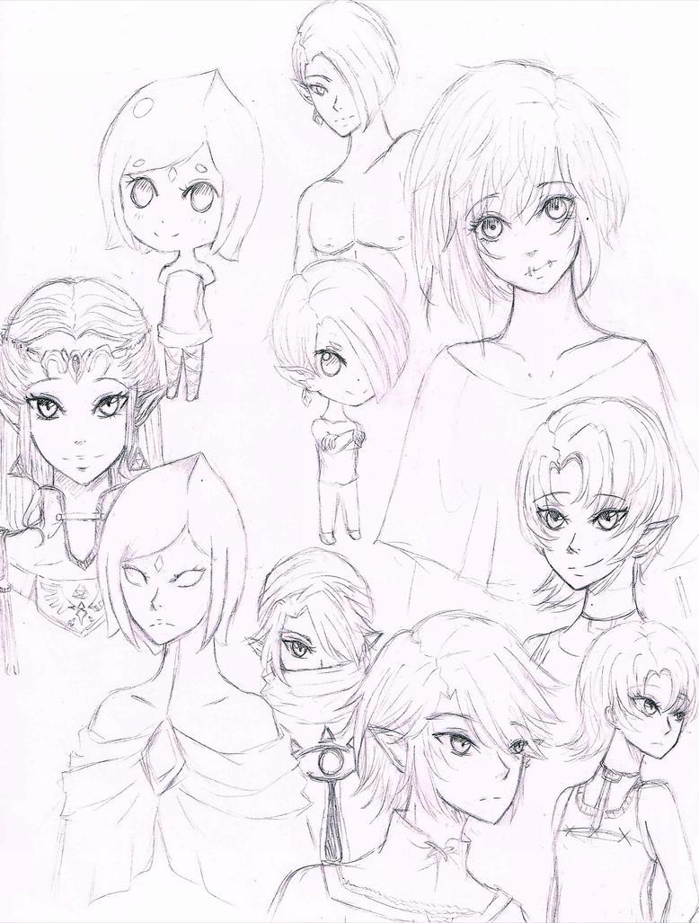 Zelda doodlez by loveMadrigal