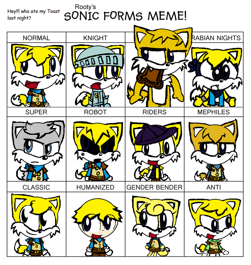 Sonic Forms: Bradley In Sonic Forms Meme By InspectorCrayon On DeviantArt