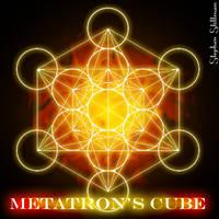 Sacred Geometry Metatrons Cube by TetraChromaticArt