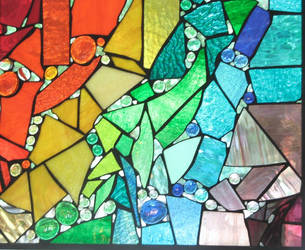 Fractured Rainbow Stained Glass by trilobiteglassworks