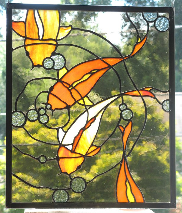 Koi Stained Glass Panel By Trilobiteglassworks On Deviantart