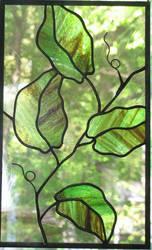 Vine Stained Glass by trilobiteglassworks