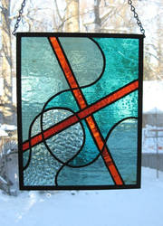 Amoeba Madona Stained Glass by trilobiteglassworks
