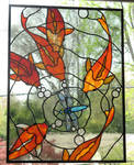 Koi Stained Glass Panel 2