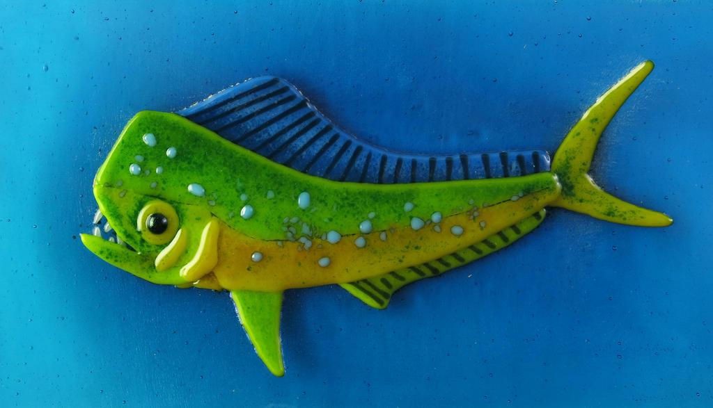 Mahi Mahi Fish Fused Glass Dish by trilobiteglassworks on ...