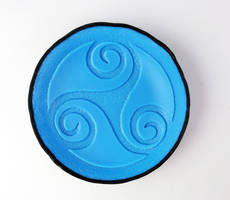 Triskele (Tripple Sprial) Fused Glass Trophy Dish