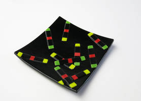 Hydrogel Rods Fused Glass Dish