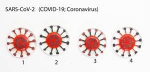 Coronavirus Fused Glass Tie Tacs