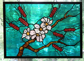 Contaminated Almond Tree Stained Glass