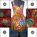 Beaded Tie Dye Summer Dress