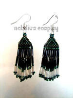 Dark Green Earrings by Natalie526