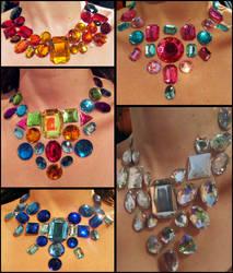 Rhinestone Bib Necklaces by Natalie526