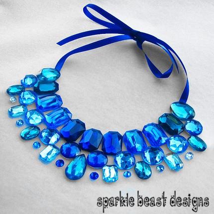 Blue Rhinestone Collar by Natalie526