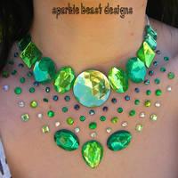 Green Rhinestone Speckle by Natalie526