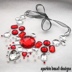 Romantic Rhinestone Necklace by Natalie526