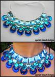 Blue Moon Rhinestone Necklace