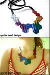 Geometric Swarovski Necklace