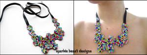 Rainbow Molecule Necklace by Natalie526