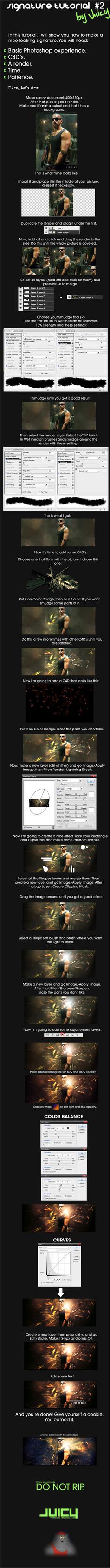 Signature tutorial by Juicygfx