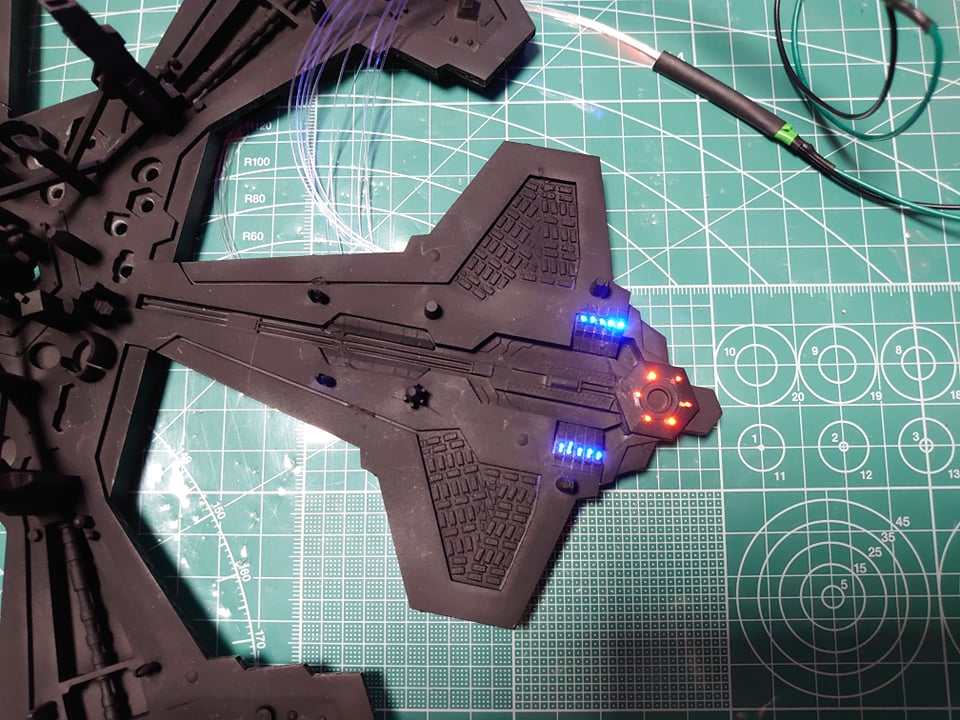 Stargate Atlantis city - Fiber optics test
