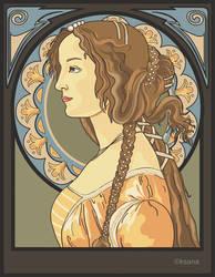 Simonetta art nouveau by rosarija