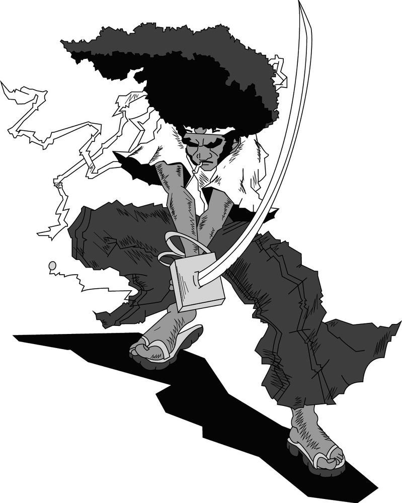 Afro Samurai Illustrator by untipollamadocarlos on DeviantArt