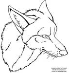 coyote face lineart