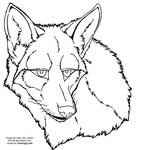 coyote face lineart 2