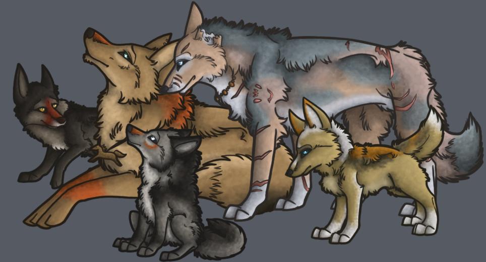 Myrika, Vesper, and Family by 00129