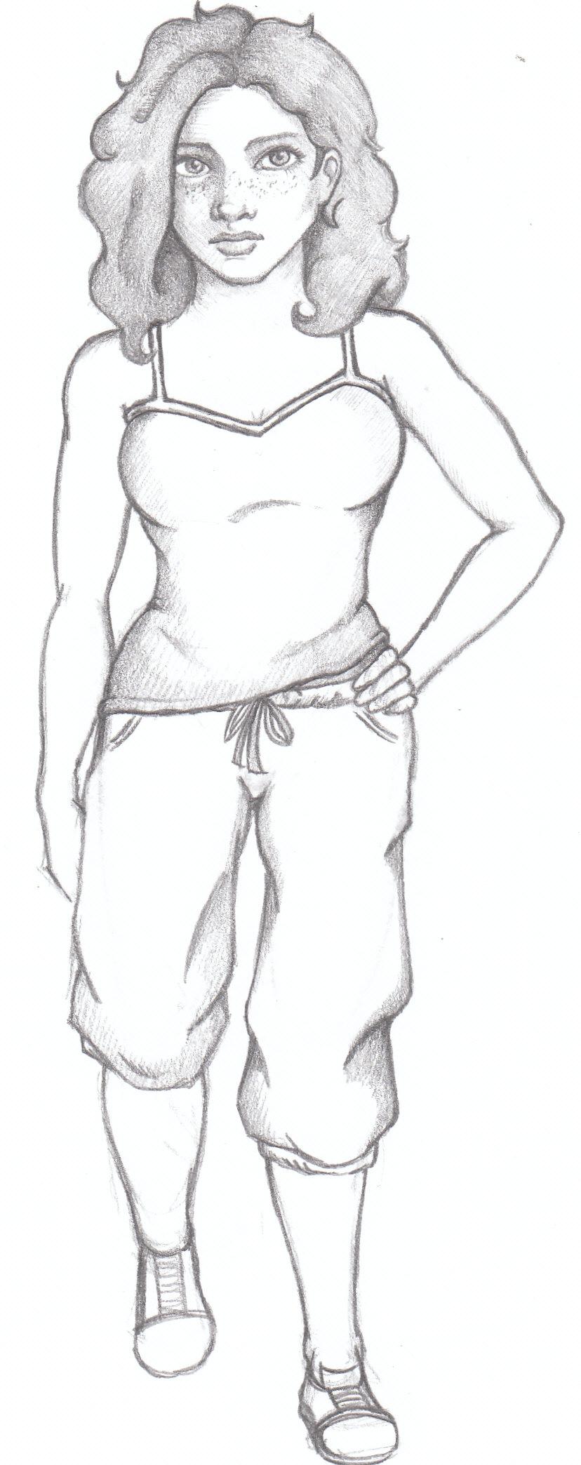 OC - Hannah Sketch by MiliaTimmain