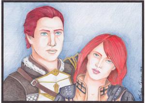 Commission: Kiara and Sebastian Vael