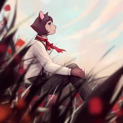 Poppy field by OskolokCat