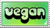 Vegan stamp. Be vegan, be happy : ) by SleepyVoodle