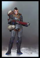 Posthuman Security Pod by demonui