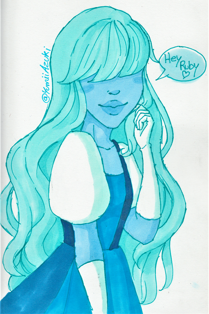 I am a huuuuge fan of Steven Universe, so here's a character I love: Sapphire ♥ Her story with Ruby is just perfect nyawww <3 Still a try on my new alcohol markers though hehe