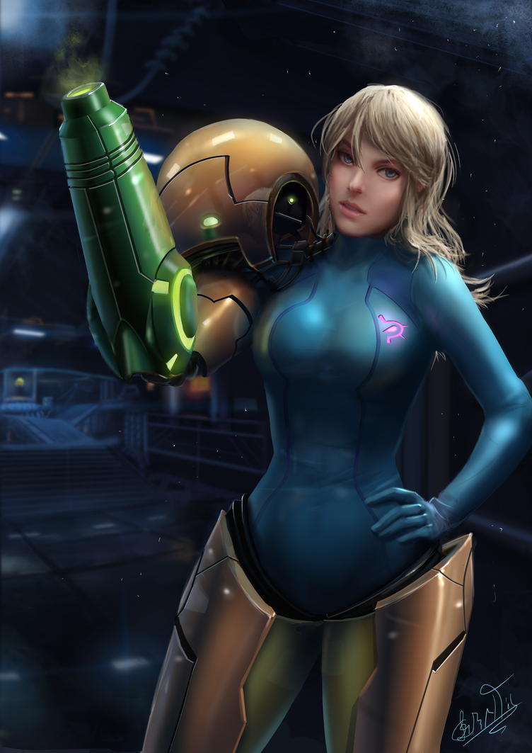 Samus Aran by leometroid