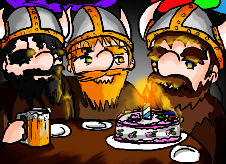 Открытки с днем рождения викинги