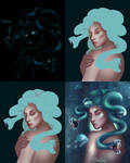 Step by step Medusa_ Nekocuong by cuongkhung1993
