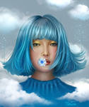 Blue Portrait by cuongkhung1993