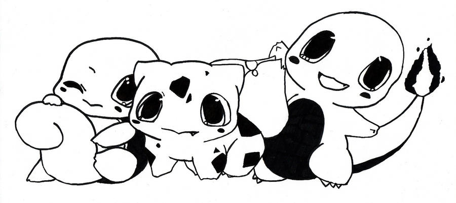 charmander bulbasaur squirtle coloring pages - photo#14