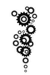 Gears+Cogs Tattoo Design by Spinmenson