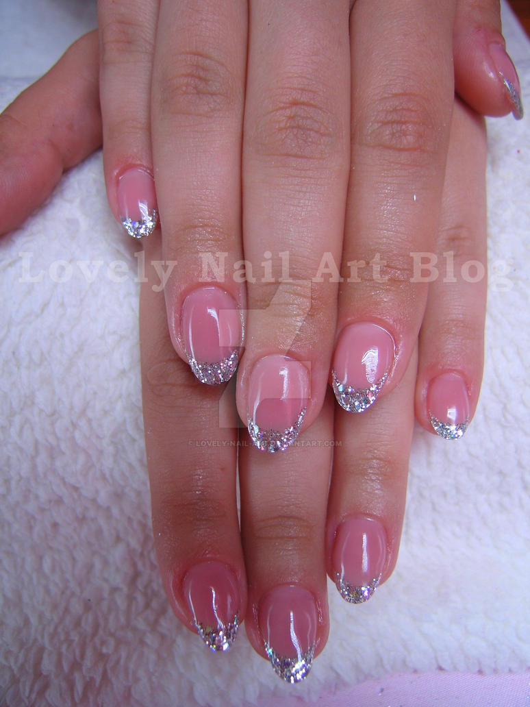 Silver french nails by lovely-nail-art on DeviantArt