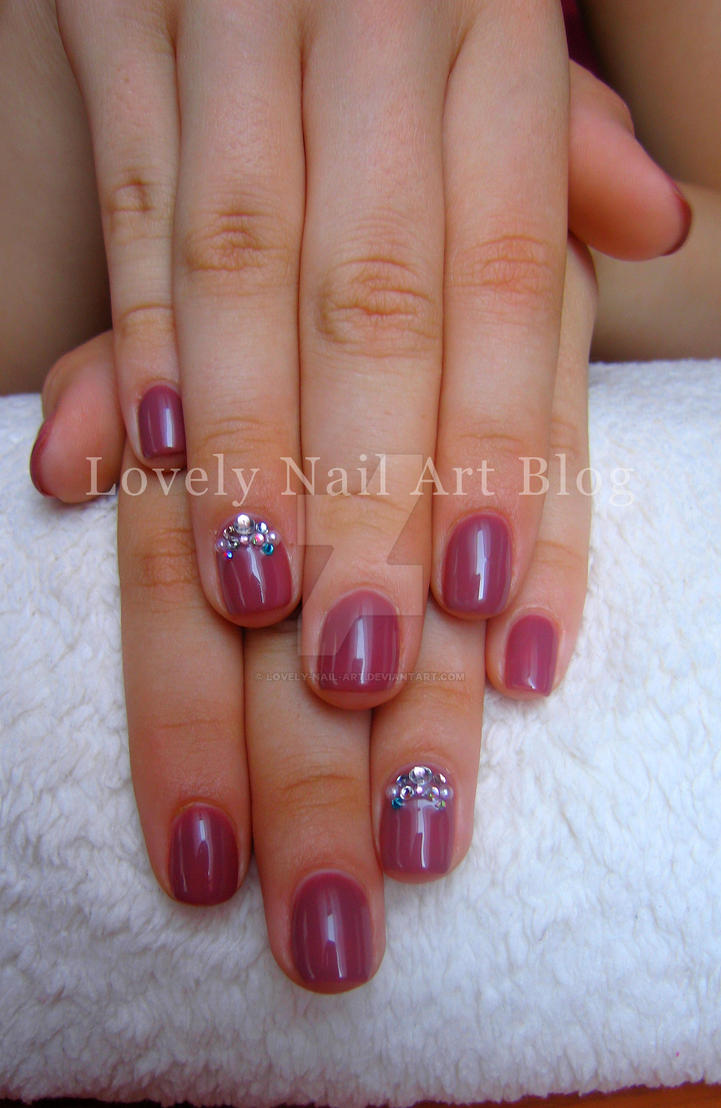 Crystal Nails gel lack for myself by lovely-nail-art on DeviantArt