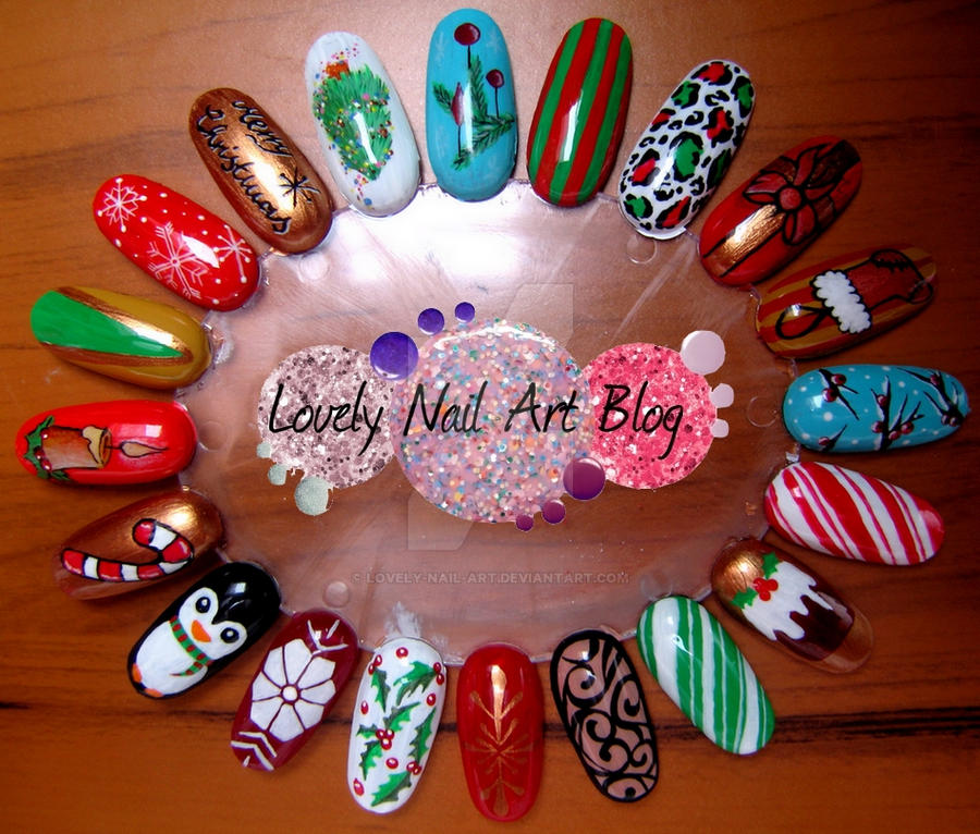 20 christmas nail designs by lovely-nail-art on DeviantArt