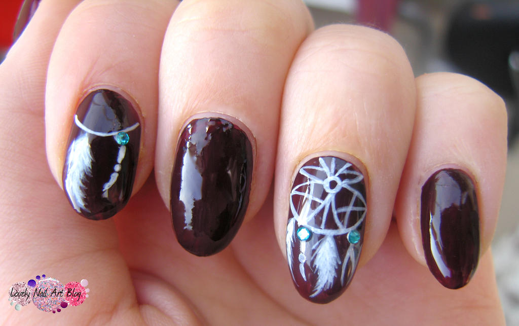Dreamcather nail design by lovely-nail-art on DeviantArt
