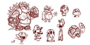 Mario Sketches