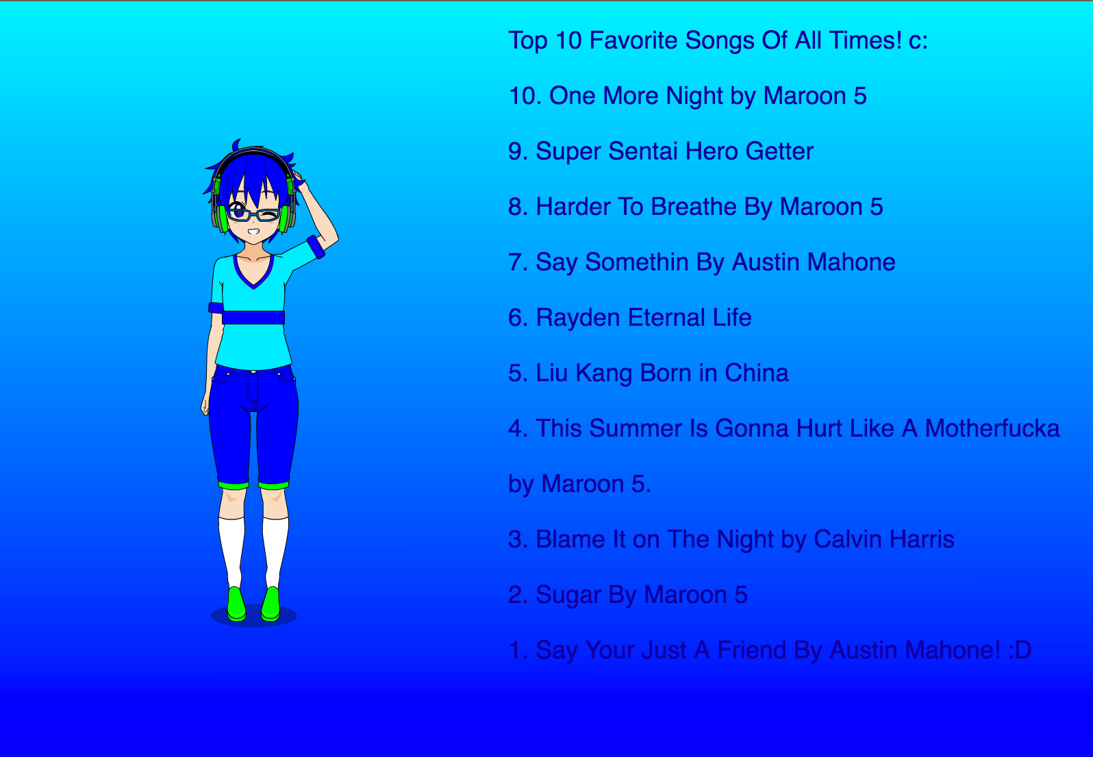 my top 10 favorite songs of all time by zindrenthecoolguy137 on