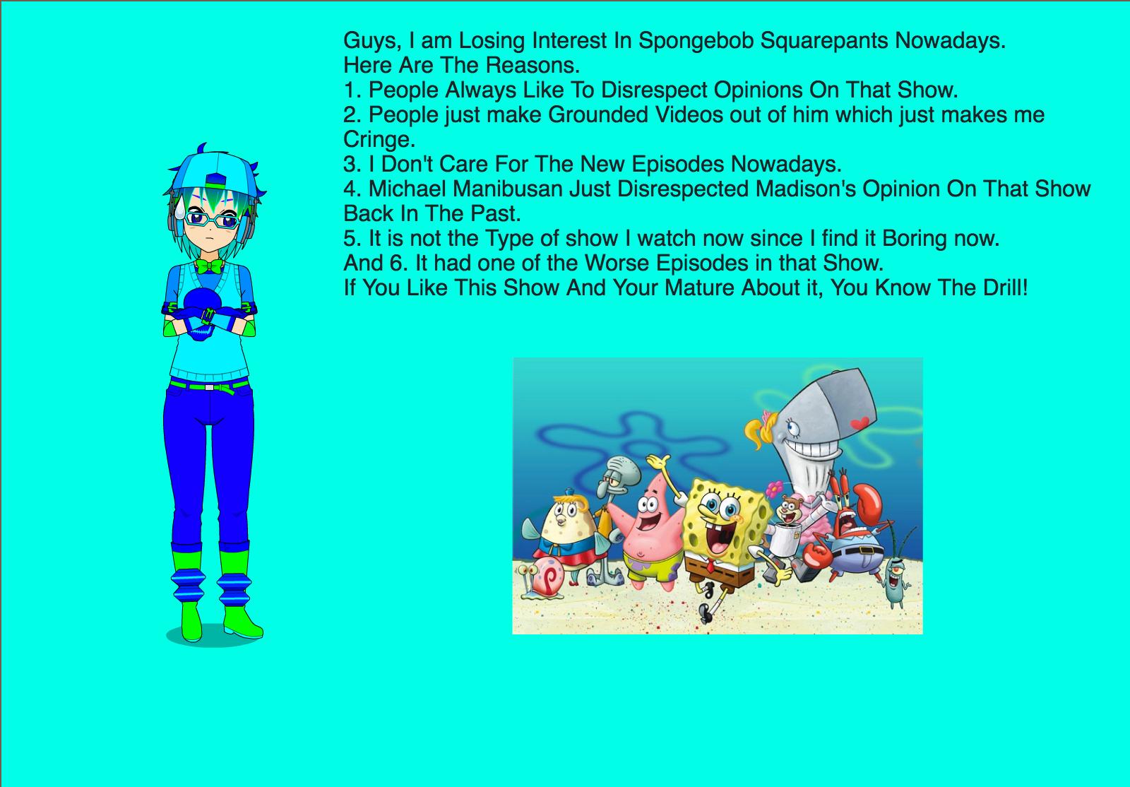 i u0027m losing interest in spongebob squarepants by