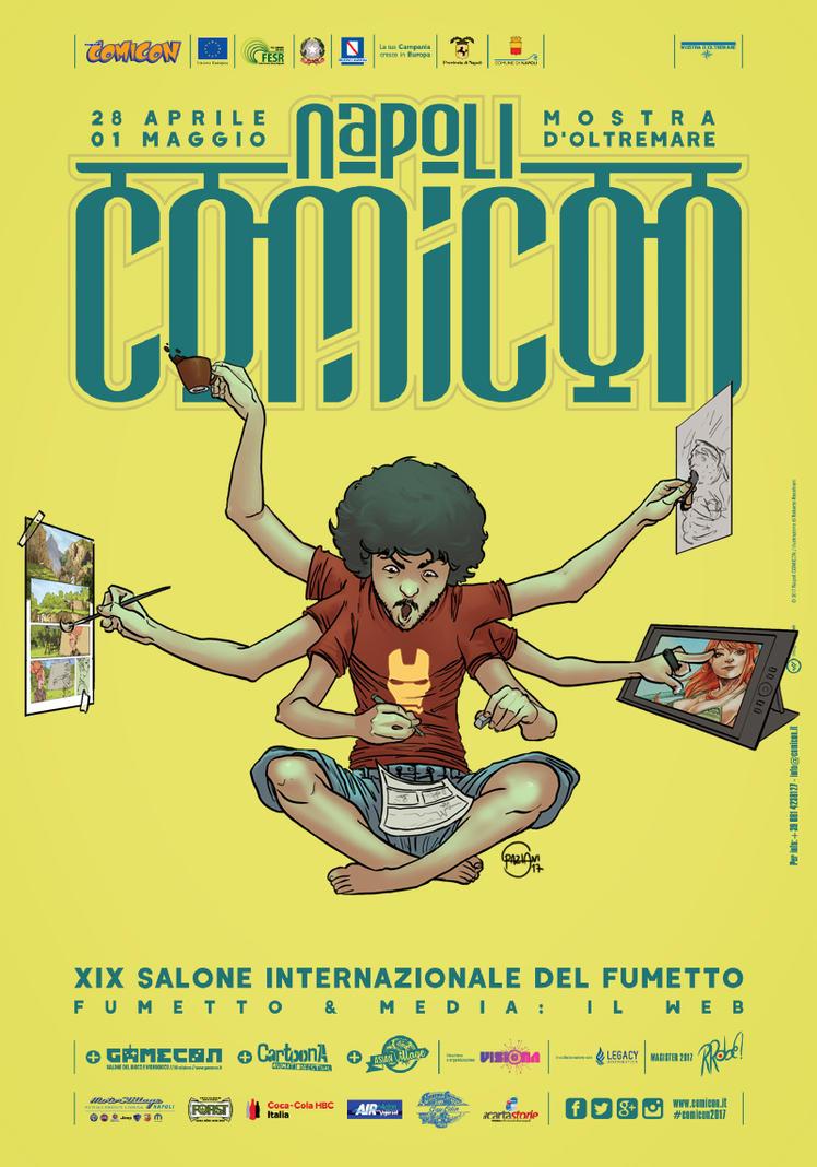 Customized Napoli Comicon Poster by StefanoSpaziani