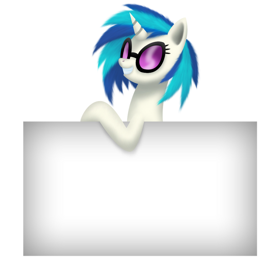 Vinyl with a Blank Sign by Gennbu